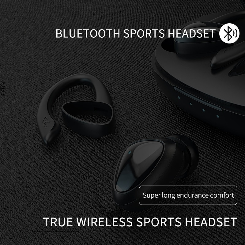 Bluetooth 5.0 Payphone with charging box Headphones 9D Stereo Sport Waterproof Headsets With Microphone enlarge