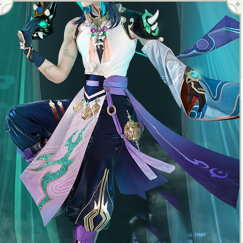 game genshin impact albedo cosplay costume carnival halloween performance outfit props men suit genshin impact costumes Anime Genshin Impact Xiao Cosplay Costume Carnival Halloween Party Performance Outfit Props Men Suit Genshin Impact Costumes