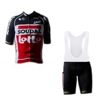 2020 preto pro equipe loto soudal dos homens conjunto camisa de ciclismo bicicleta maillot respirável mtb 3 bolsos bicicleta ropa ciclismo 9d gel almofada