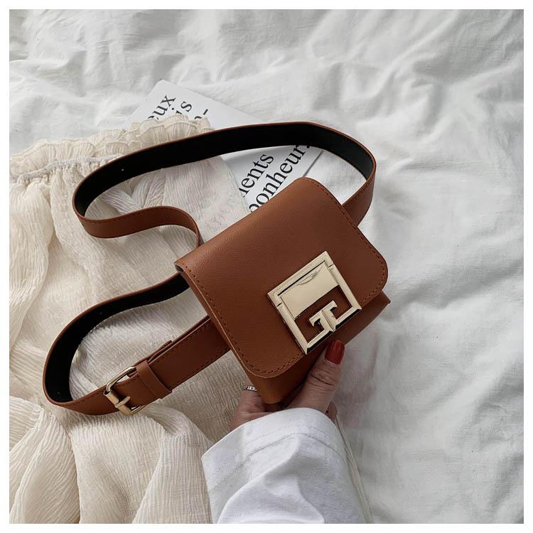 Fashion Pu Mini Bag Box Cover Small Square Bag Waist Bag Inclined Shoulder Bag for Women