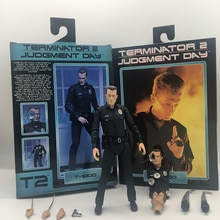 Terminator NECA jouet Original T-800 figurine de jugement, jour daction T-1000, modèle à collectionner jouet cadeau