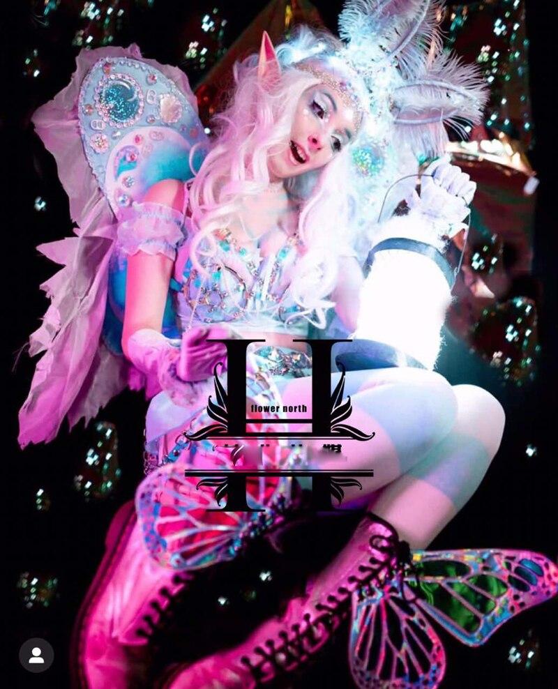 هالوين بار ملهى ليلي مرحلة عرض مخصص قزم تأثيري ازياء ما كارون اللون الحبيب فتاة صور استوديو ازياء