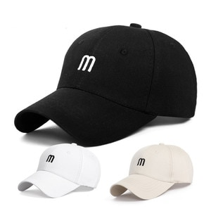 Hat M Letter Embroidery Spring And Summer Caps Men'S Wild Curved Brim Cotton Sun Hat Fashion Simple Female Baseball Cap