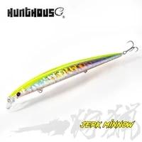 hunthouse jerk minnow 210mm34g lure long casting minnow floating pesca jerkbaits body steel stainless hardcore minnow 210