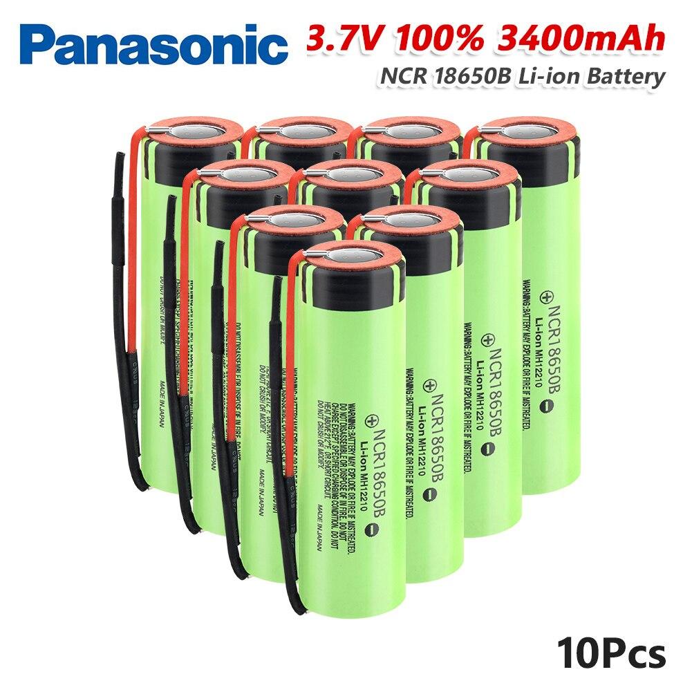 Panasonic 1/2/4/6/8/10x batería recargable NCR18650B 3,7 V 20A 3400mAh litio Li-ion NCR...