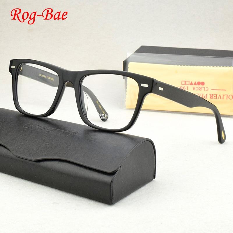 النظارات البصرية الإطار الرجال مربع خلات خمر إطارات النظارات العين للنساء نظارات قصر النظر الكمبيوتر الرجعية النظارات OV5393