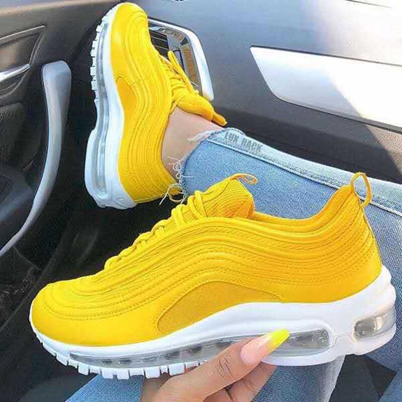 Women's shoes 2021 new fashion flat bottom foreign trade large size casual air cushion sports shoes