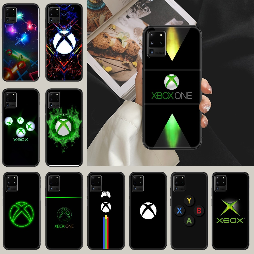 Game Console XBOX Phone case For Samsung Galaxy Note 4 8 9 10 20 S8 S9 S10 S10E S20 Plus UITRA Ultra black soft hoesjes painting