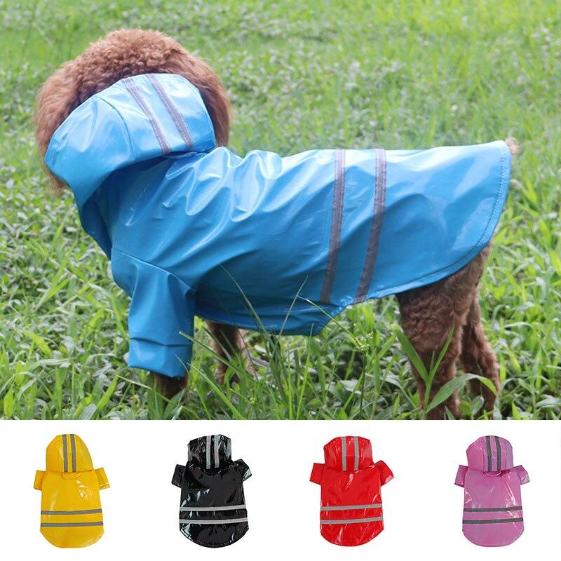 New Pet Dog Waterproof Raincoat Reflective PU Rain Coat Sunscreen Dog Outdoor Clothes Jacket For Small Dog Pet Supplies 2021 s 7xl pet apparel dog clothes dog raincoat pet jacket reflective rain pet waterproof coat plaid dog poncho teddy raincoat