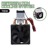 household semiconductor refrigeration sheet system radiator 72w cooler refrigeration semiconductor cooling system kit cooler fan