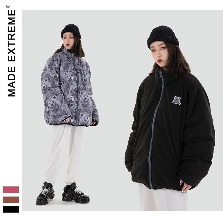 MADEEXTREME Hip Hop Oversize Thicken men jacket winter Streetwear Jacket Parka Cotton Harajuku Winter Down Jacket Coat DP826