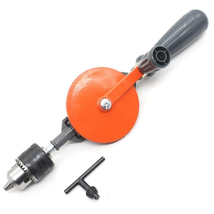 Doble engranaje barrena manual de herramienta de acero 45 #1,5-10 Mm de tamaño mediano de la madera barrena manual de precisión clave