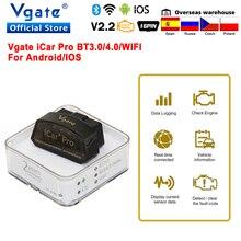 Vgate Икар Pro Bluetooth 4,0 OBD2 автомобильный диагностический сканер OBD 2 WI FI elm327 автоматический сканирующий инструмент ODB2 для Android/IOS PK ELM 327 в 1 5