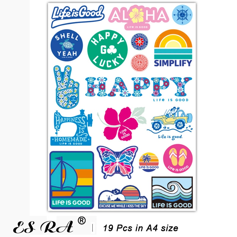 INS Aesthetic Stickers on Laptop Waterproof PVC Life is Good Pegatinas Outdoor Skateboard Decals for Luggage  Notebook Decorate