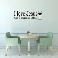 i love jesus wall decal vinyl christian quotes bible scripture inspirational words wall stickers religious home decor