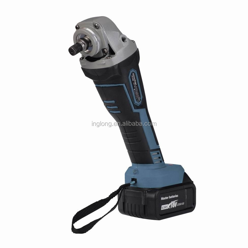rechargeable brushless cordless angle grinder with two 18V 4.0Ah lithium batteries enlarge