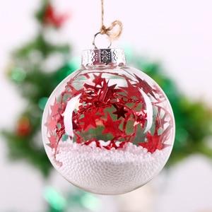 64pcs/pack Diameter=10cm Middle Size Transparent Glass Globe Christmas Day Decorative Hanging Ball Pendant Wedding Live Prop
