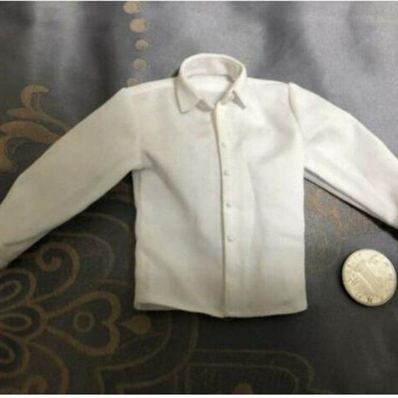 В наличии, весы 1/6, белый тренд, официальный костюм, рубашка, одежда, подходит для тела 12 дюймов