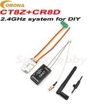 1 комплект Corona 2,4 Ghz DIY модуль передатчик CT8Z с V2 версия DSSS CR8D приемник TX & RX модуль Набор RF moudle для DIY RC дронов