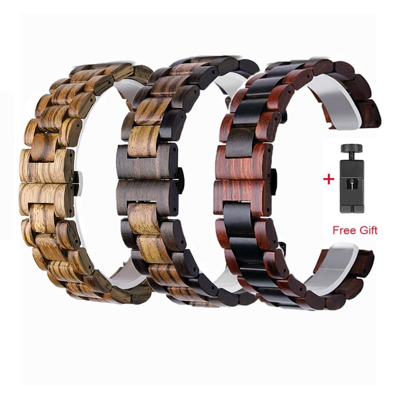 Wooden Straps For Garmin Vivoactive 3 4 Smart Watch Band 20MM 22MM Wristband For Vivoactive4 3 Corre
