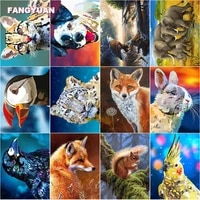 diy 5d diamond painting cute animals series full round square drill diamond embroidery cross stitch kits pictures of rhinestones