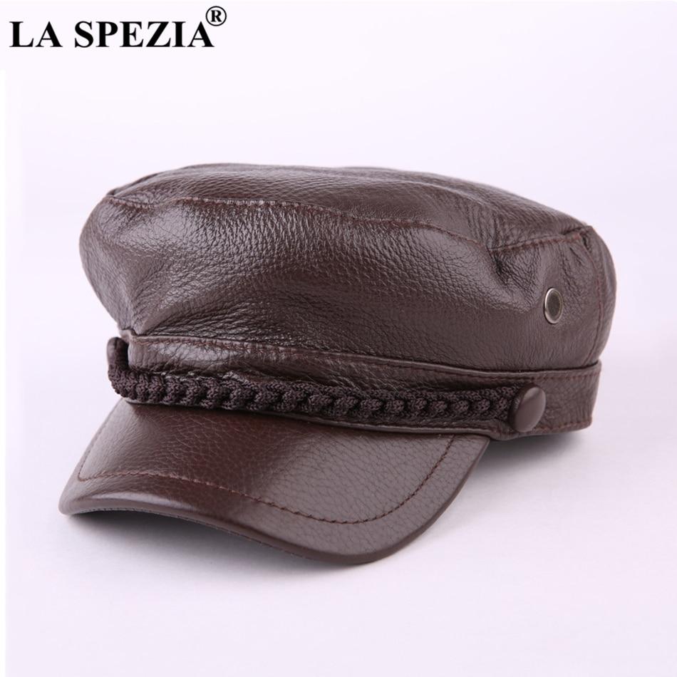 لا سبيزيا-قبعة صبي الصحف من الجلد الطبيعي ، قبعة غاتسبي غير رسمية ، مسطحة ، أزياء إيطالية ، للرجال والنساء
