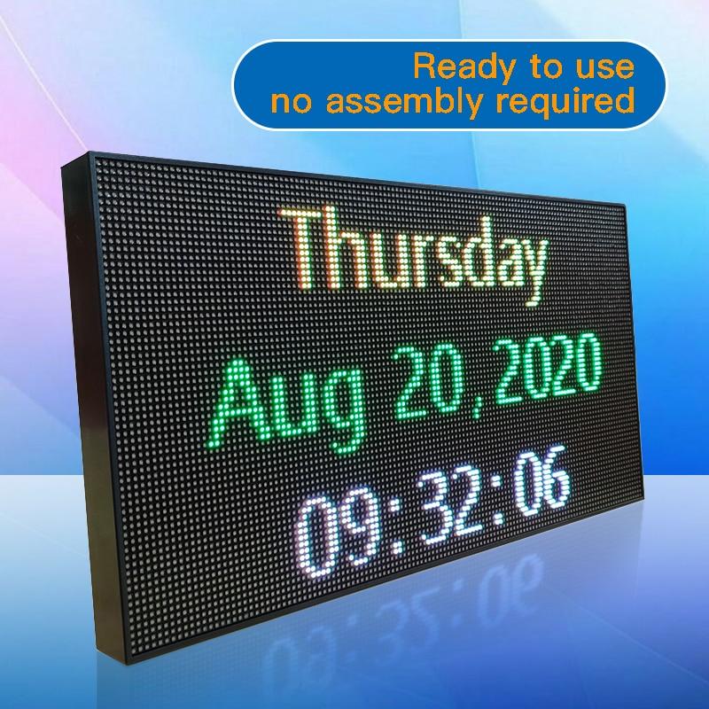 LED راية مع كامل اللون عرض التمرير رسالة و برمجة توقيع ل كلمة عرض إعلاني