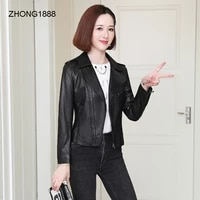 motorcycle womens leather leather coat 2020 new autumn sheep leather single leather slim leather jacket small jacket