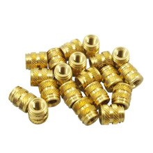 100pcs M3 3mm M3-0.5 Brass Threaded Metal Heat Fixing Screw Insert 3D Printing Slotted Type Wire Thread Insert Nut Repair