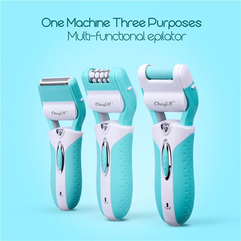 Multifunctional 3 in 1 Hair Removal Epilator Rechargeable Lady Shaver Callus Remover Cordless Bikini Trimmer Foot Dry Skin Clean enlarge