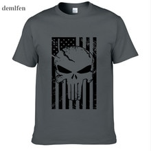 American Sniper Chris Kyle Men T Shirt Punisher Skull Navy Seal Team Legend Printed Fashion Tops Tees Summer Casual Tshirt