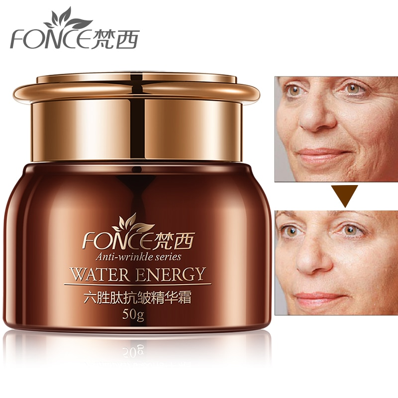 Korea Anti wrinkle Remover Face Cream anti Aging Dry Skin Hydrating Facial Lifting Firming Day Night Cream Six Peptide Serum 50g