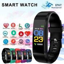 Bluetooth Smart Bracelet 115 Plus Smart Watch Bracelet Waterproof Blood Pressure Pedometer Sports Wristband Watch