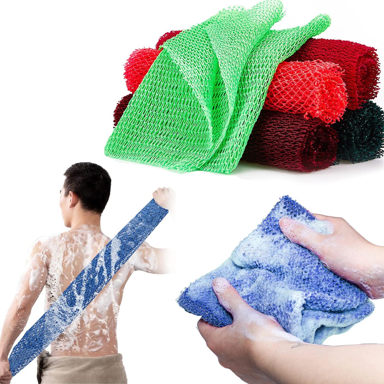 African Net Long Bath Body Exfoliating Long Net Shower Body Scrubber Back Scrubber More effective ex