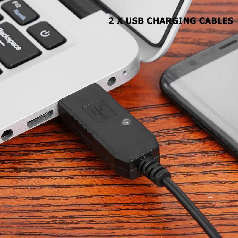 2pcs 1m USB Charging Cables 5V to 10V for BaoFeng UV-5R UV-82 UV-8D BF-9700 UV-6R Radio Desktop Battery Charger enlarge