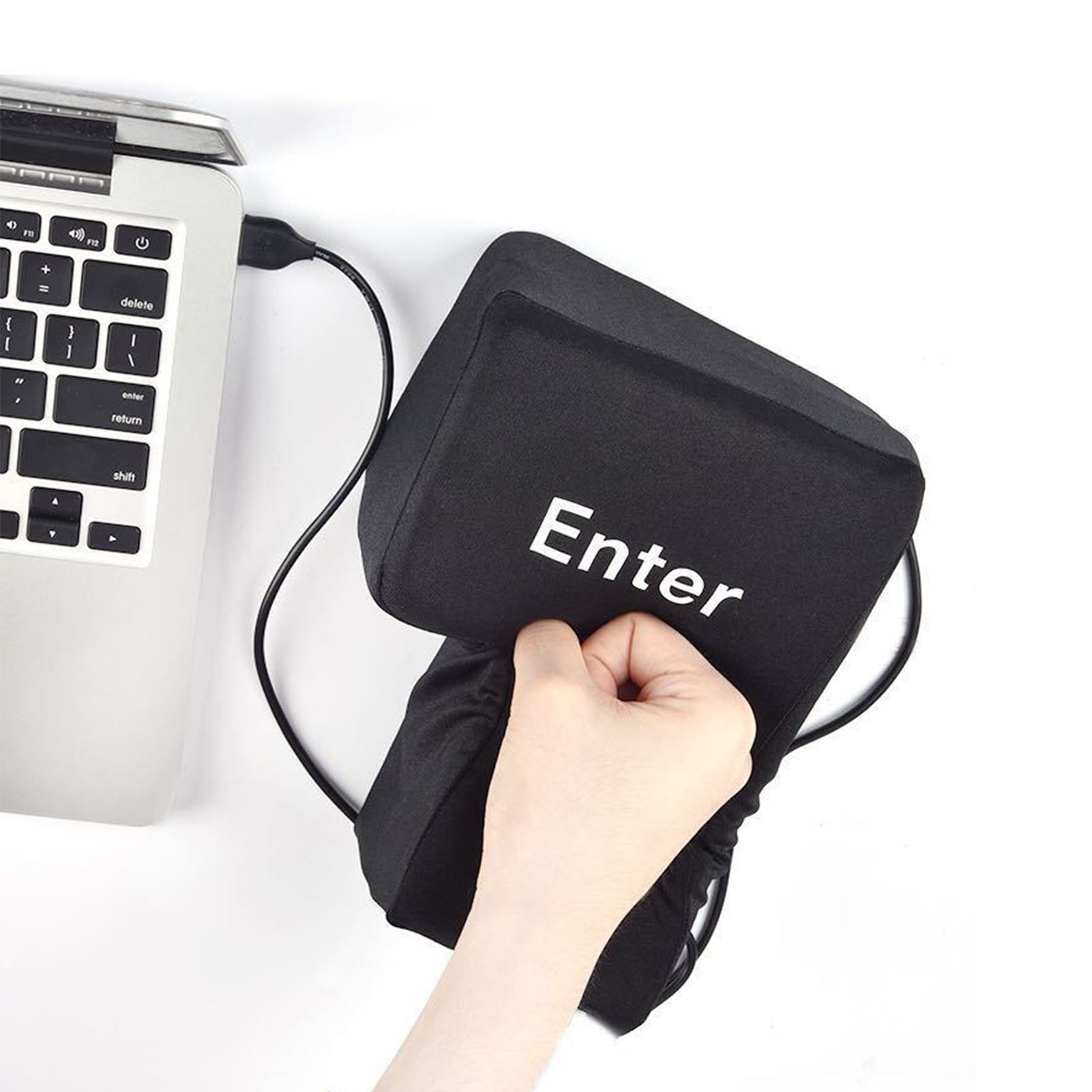 Hot USB Enter Key Vent Pillow Soft Computer Button Return Key Offices Decompression Pillow Stress Relief Toy Wholesale enlarge