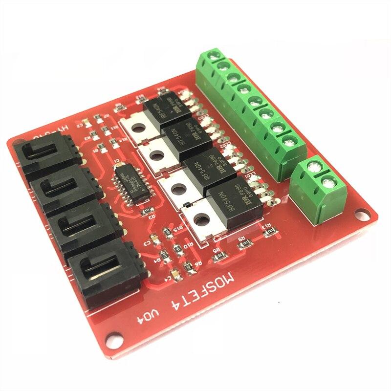 Nuevo bloque de construcción electrónico de 10 piezas Módulo de interruptor de 4 vías interruptor MOSFET Placa de desarrollo IRF540 módulo de potencia aislado