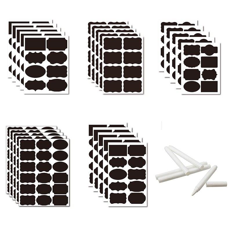 36-54-pz-set-cancellabile-lavagna-adesivo-mestiere-cucina-vasetti-organizzatore-etichette-lavagna-lavagna-adesivo-lavagna-nera-5x35cm