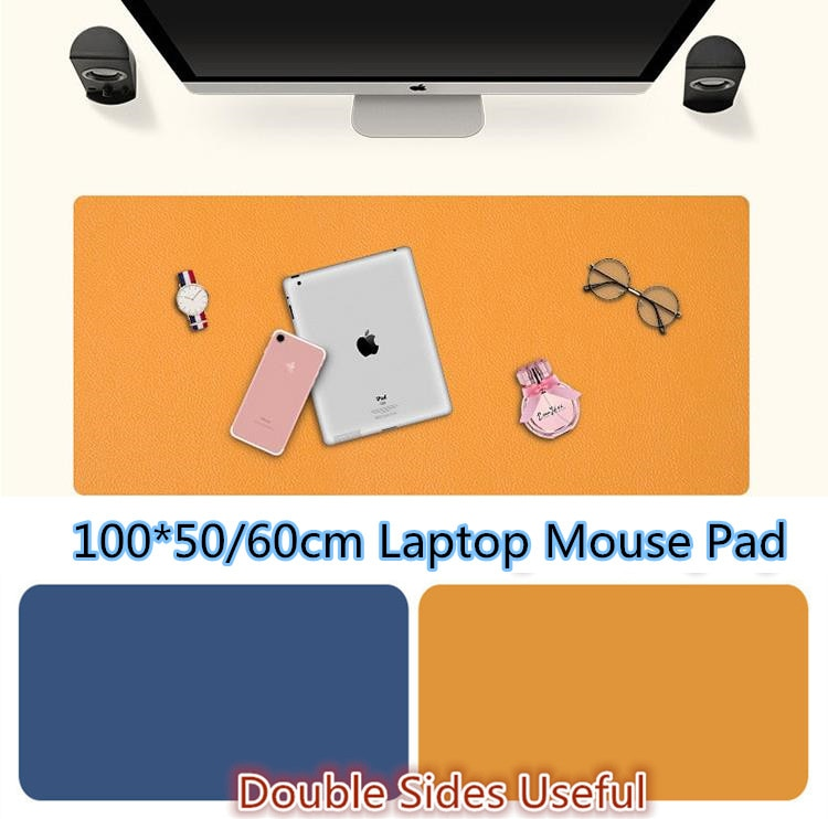 Leather 100*50/60cm Laptop Mouse Pad Office Desk PC Organizer Waterproof Computer Pad Anti-slip Gamer Laptop/Desktop Mouse Mat