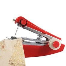 Opération manuelle Portable Mini Machine à coudre créatif extérieur Simple outils de couture maison voyage petite broderie couleur aléatoire #35