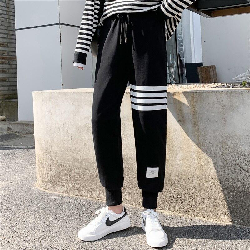 Fleece-Lined Pants Women's Ins Autumn and Winter 2021 New Slimming Versatile Loose Straight Fleece-L