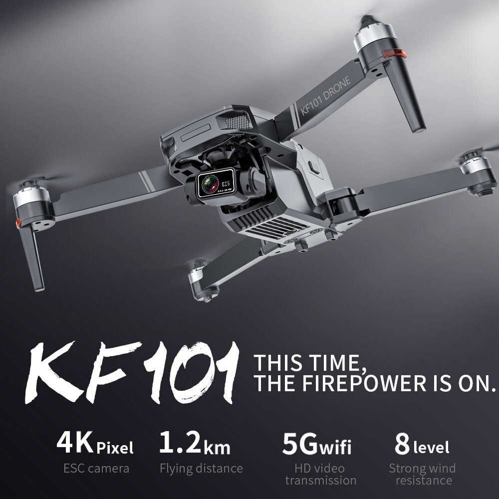 2021 NEW KF101 Drone GPS 4K HD Profesional Camera 3-Axis Gimbal Drones 5G Wifi EIS Anti-Shake FPV Drone RC Quadcopter Toys 1200M 2
