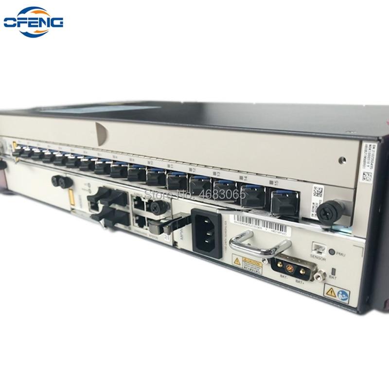 MA5608T chasis + 1 * MCUD + 1 * MPWC + 1 * GPFD B + C + + OLT GPON para Huawei MA5608T 1G DC 16 pon Port Olt