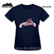 Drôle mains imprimer payer le mouvement Vaporwave faire lamour Sexy femmes T-Shirt punk psycho prodigy musique T-Shirt filles t-shirts dame t-shirts