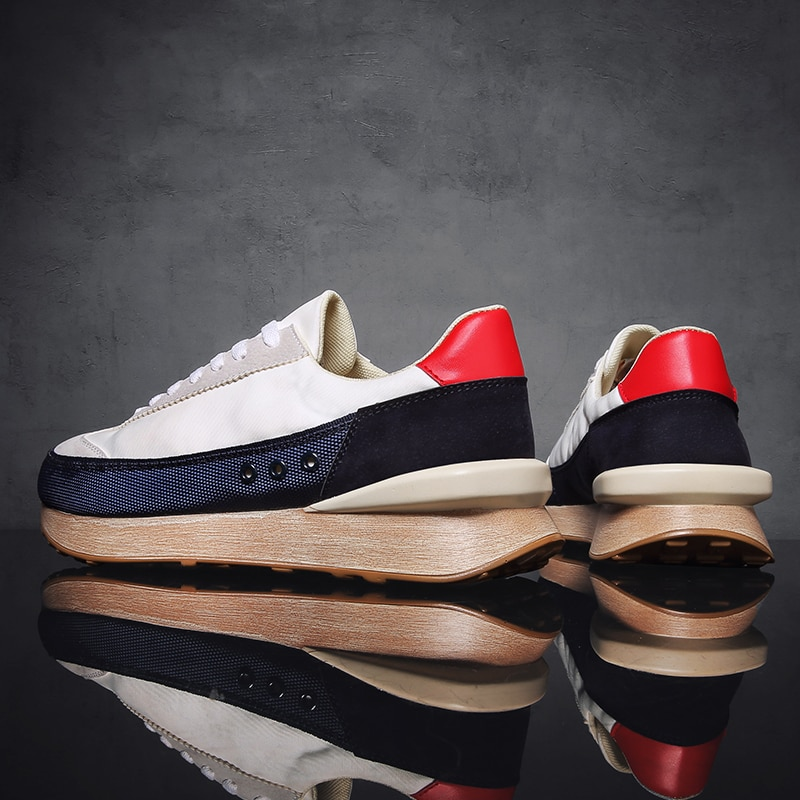 Mannen Mode Platform Sneakers Mannelijke Designer Schoenen Outdoor Antislip Ademende Schoenen Nieuwe Trend Wilde Casual Comfortabele Schoenen