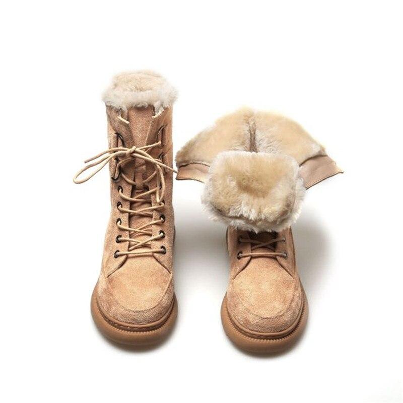 Botas De nieve De Mujer De piel De Lnsole zapatos De invierno...