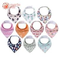 2pcslot baby bandana bibs organic cotton baby feeding bibs for drooling teething soft and absorbent bibs fashion infant bibs