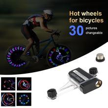 Luz de bicicleta 14LED, ruedas de bicicleta, luz de advertencia de 30 imágenes, luces de radios decorativas impermeables, accesorios de bicicleta de montaña