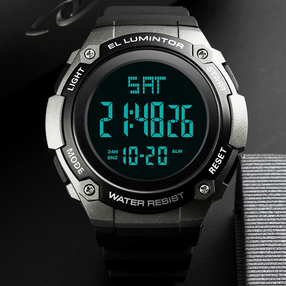 Relojes SKMEI para hombre, reloj deportivo de exterior Digital LED impermeable e informal, relojes de pulsera multifunción para estudiantes