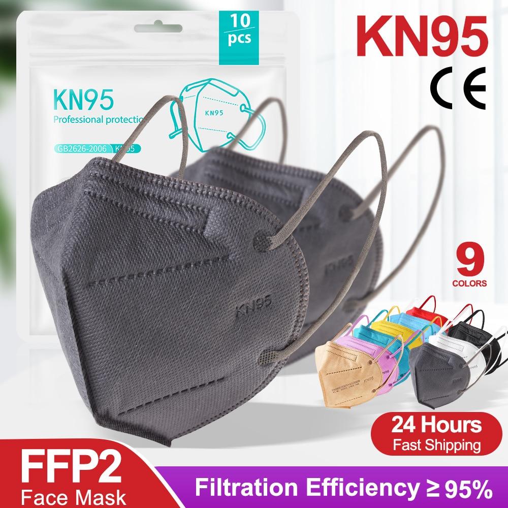 Anti gotas respiráveis à prova de poeira da proteção descartável de cinco camadas da máscara do ponto kn95 geral para o ce adulto do ffp2mask dos estudantes Másc.    -